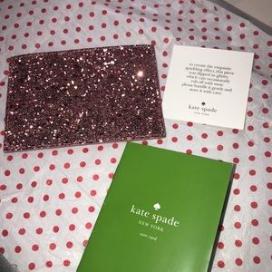 KATE SPADE NY Pink Glitter Card Holder